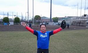 大分県議会野球部の練習