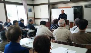 竹田視覚障害者相互援助協会総会で挨拶