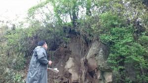 片ヶ瀬の被害現場1
