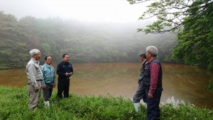 城原の森屋ため池を視察