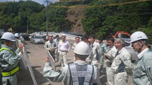 県議会土木建設委員会が、竹田の事業進捗状況を調査