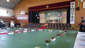 竹田中学校 卒業式 土居昌弘