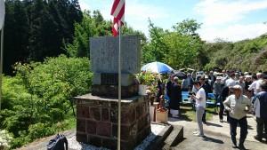 福岡の大刀洗を攻撃した米軍のB29 殉空之碑の前で法要01