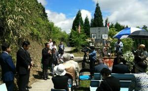 福岡の大刀洗を攻撃した米軍のB29 殉空之碑の前で法要02