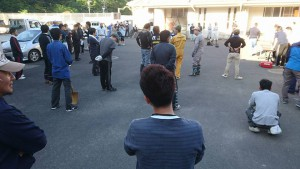 竹田小学校の清掃