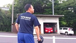 消防団の点検と会議