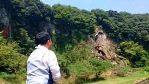 国指定天然記念物の岩01