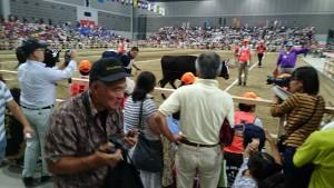 全国和牛能力共進会第2区若雌の部で、荻町の後藤くんの牛が2位 02