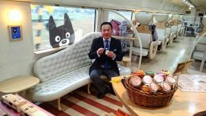 熊本地震復興キャンペーン あそボーイ! くろちゃんシート  大分県議会議員 土居昌弘
