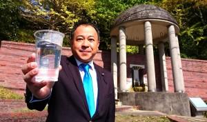 長湯のお湯は 血の薬 長湯温泉の飲泉 大分県議会議員 土居昌弘