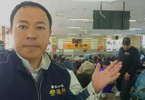 子牛市場で高値を祈願大分県議会議員 土居昌弘