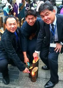 たけた竹灯籠 竹楽がスタート2 大分県議会議員 土居昌弘