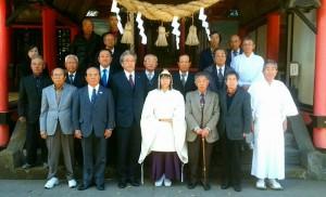 城原神社で新嘗(にいなめ)の祭り2 大分県議会議員 土居昌弘