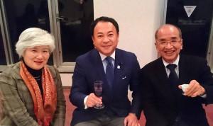 玖珠で、広瀬知事夫妻と食事会 大分県議会議員 土居昌弘