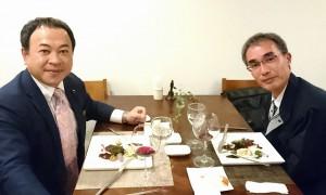 タケタビジベジを大蘇ダムの瀬戸所長と美味しくいただきました 大分県議会議員 土居昌弘