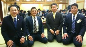 今年最後の忘年会♪始めは、ASO groupの皆さんと 大分県議会議員 土居昌弘