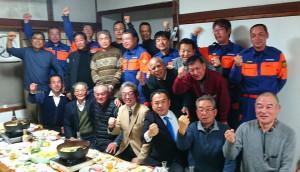 荻町消防団OB会の新年会 大分県議会議員 土居昌弘