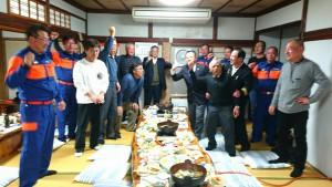 荻町消防団OB会の新年会2 大分県議会議員 土居昌弘