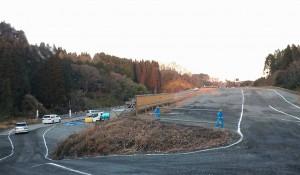 石井国交大臣が中九州横断道路の建設現場に3 大分県議会議員 土居昌弘