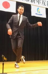 古庄里好さんが竹田市新年互礼会と直入地域新年互礼会で楽しいダンスを披露 大分県議会議員 土居昌弘