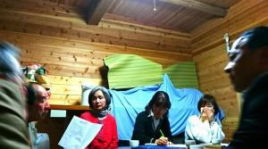 長湯の御沓さん自作娯楽室で、農業と福祉の連携を考える会議 大分県議会議員 土居昌弘