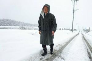 降雪の状況を確認4 大分県議会議員 土居昌弘