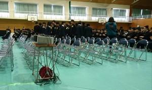 竹田高校卒業式2 大分県議会議員 土居昌弘