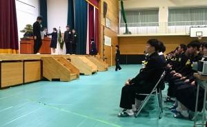 竹田高校卒業式 大分県議会議員 土居昌弘