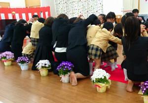 卒園式3 なおいりこども園の園児たち 大分県議会議員 土居昌弘