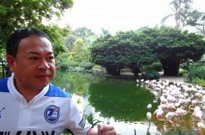 香港スタジアムで ワールドカップラグビー 九州開催地が合同でPRブースを設置3 大分県議会議員 土居昌弘