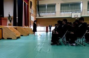 平成30年度の入学式3 午前中は竹田中学校、午後は竹田高校 大分県議会議員 土居昌弘