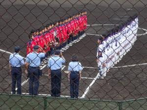 竹田で開催中の九州高校女子ソフトボール選手権大会の応援3 大分県議会議員 土居昌弘