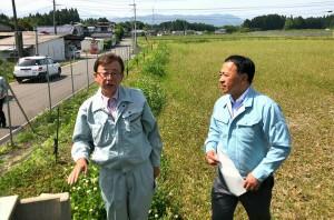 県議会農林水産委員会で訪れた片ヶ瀬の農事組合法人 白百合 大分県議会議員 土居昌弘
