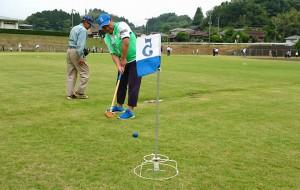 グランドゴルフ 精神障がい者との交流会5 大分県議会議員 土居昌弘
