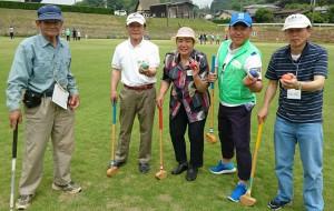 グランドゴルフ 精神障がい者との交流会4 大分県議会議員 土居昌弘
