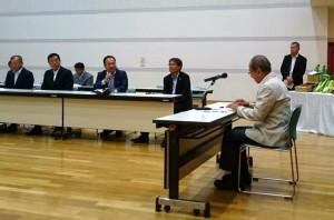 知事、市長、土地改良区の皆さんと大蘇ダムについて協議2 大分県議会議員 土居昌弘
