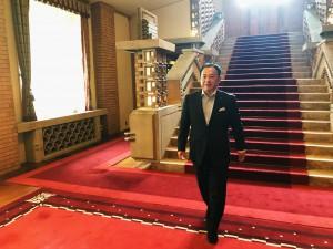 総理大臣公邸にて2 大分県議会議員 土居昌弘