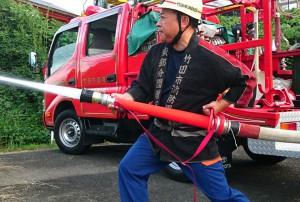 消防団の点検2 大分県議会議員 土居昌弘