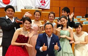 芸短大の学生がオペラなどを披露 大分県議会議員 土居昌弘