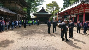 城原神社の発輿祭(はつほさい) 大分県議会議員 土居昌弘
