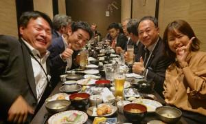 記者クラブと食事 大分県議会議員 土居昌弘