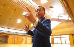 来春完成する大分県立武道スポーツセンターを見学2 大分県議会議員 土居昌弘