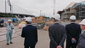 来春完成する大分県立武道スポーツセンターを見学3 大分県議会議員 土居昌弘