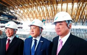 来春完成する大分県立武道スポーツセンターを見学 大分県議会議員 土居昌弘